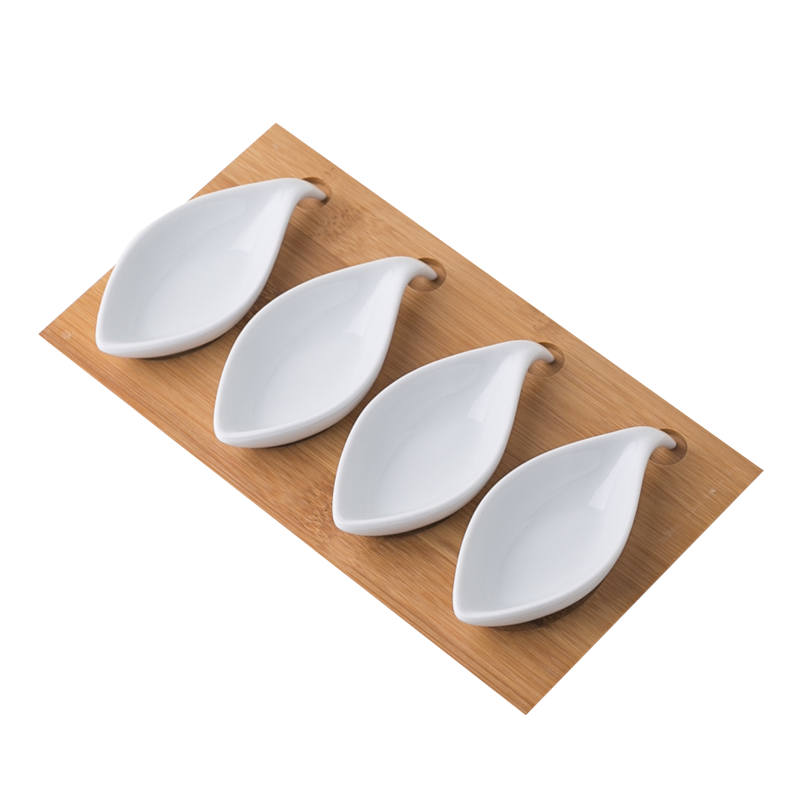 Custom metal rack party food serving snack tray set display stand white ceramic salad bowl set
