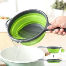 High Quality Kitchen Plastic Multi-Function Water Bailer Collapsible Water Ladle/Scoop with Long Handle