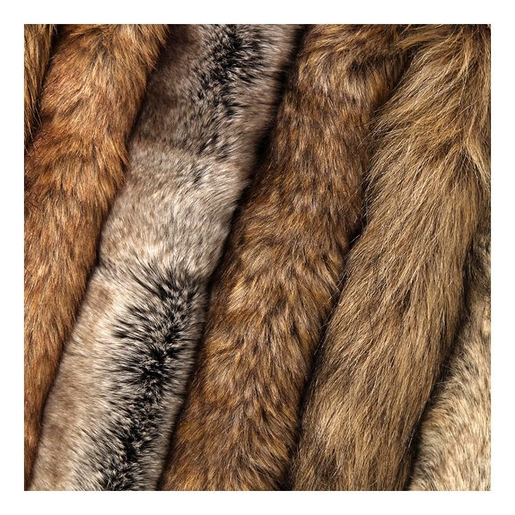 Wholesale Acrylic Polyester Long Hair Faux Animal Fake Fur Fabric
