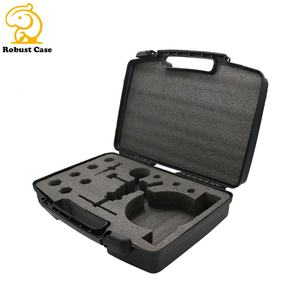 Custom-made inner foam layer protective portable plastic equipment case of superior quality for drill bits