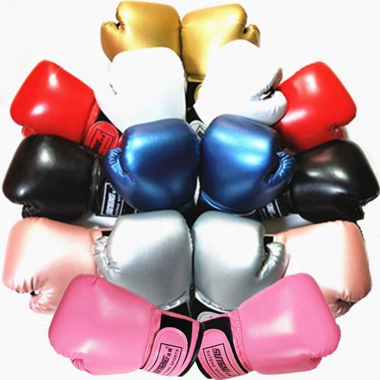Shiny Solid Color PU Leather Children's Child Boxing Gloves For Kids