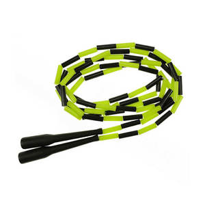 Cheap Colorful Light Plastic Toys Skipping Segmented Nylon Beaded Jump Rope