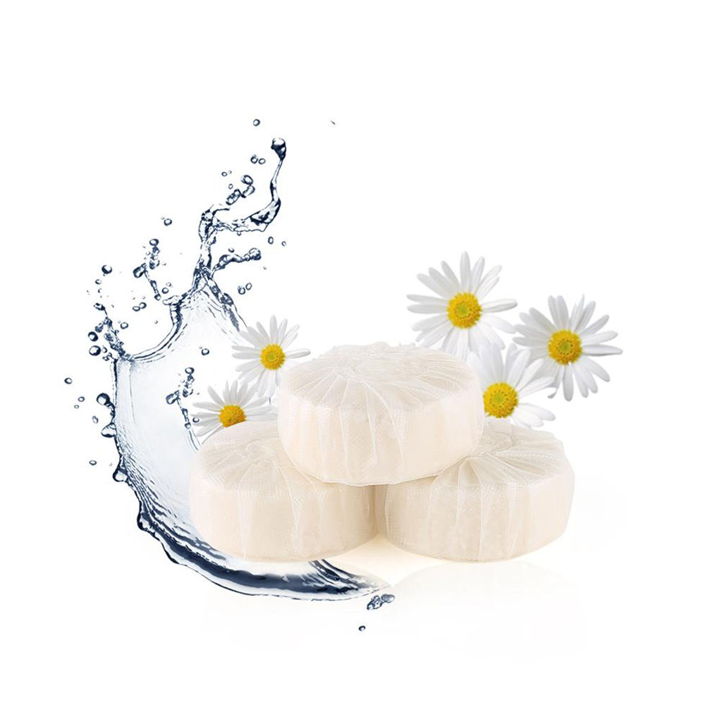 Top quality eco friendly safe best blue bubble white solid toilet bowl cleaner block tablet
