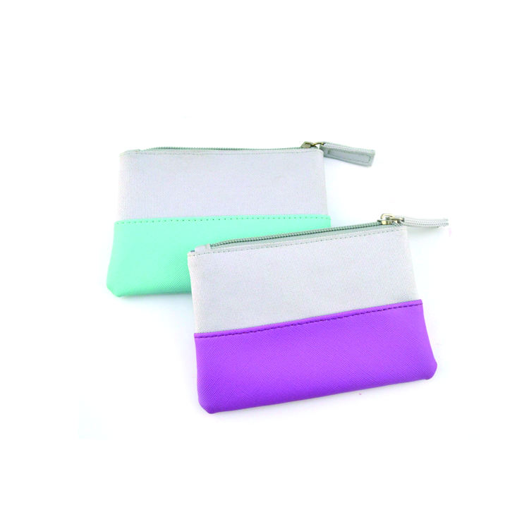 Cotton and PU material wallet Custom design leather wallet Colorful wallet women