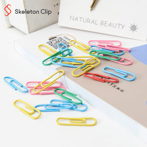 Flexible colorful ring binder paper clips strip