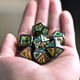 Dice Set Dice Dice Set Black Plating Photosensitive Powder Metal DND Dice Set Role Playing Dice DND Dice For Dungeons And Dragons Pathfinder