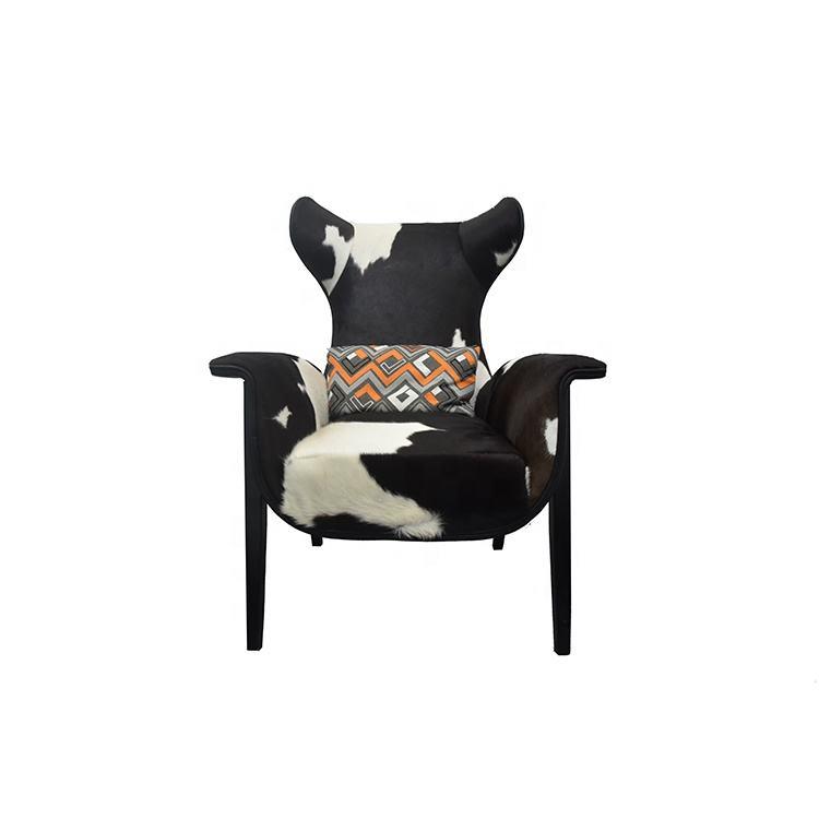 <span class=keywords><strong>Casa</strong></span> nuevo diseño nueva forma vaca ocultar Silla de cuero vintage