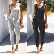 New product Leisure sleeveless  rompers womens jumpsuit