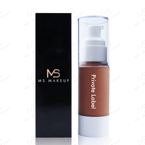 Oem Odm Cosmetic White Round Tube Makeup Oil Free Vegan Matte Full Coverage Cream Private Label Liquid Foundation For Dark Skin