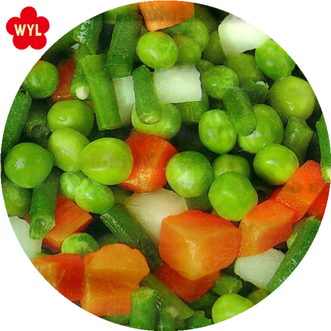 Frozen mixed vegetable with green beans, carrot,potato,green peas or other frozen vegetables