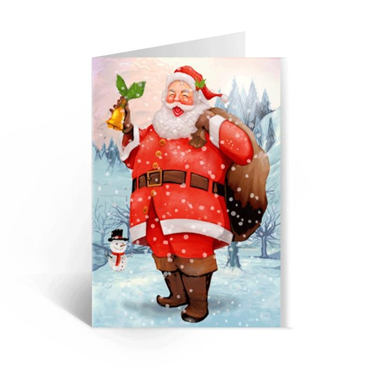 5x7 Promotional 3d Lenticular Greeting Cards Gift Fancy Style Christmas Greeting Cards For Children