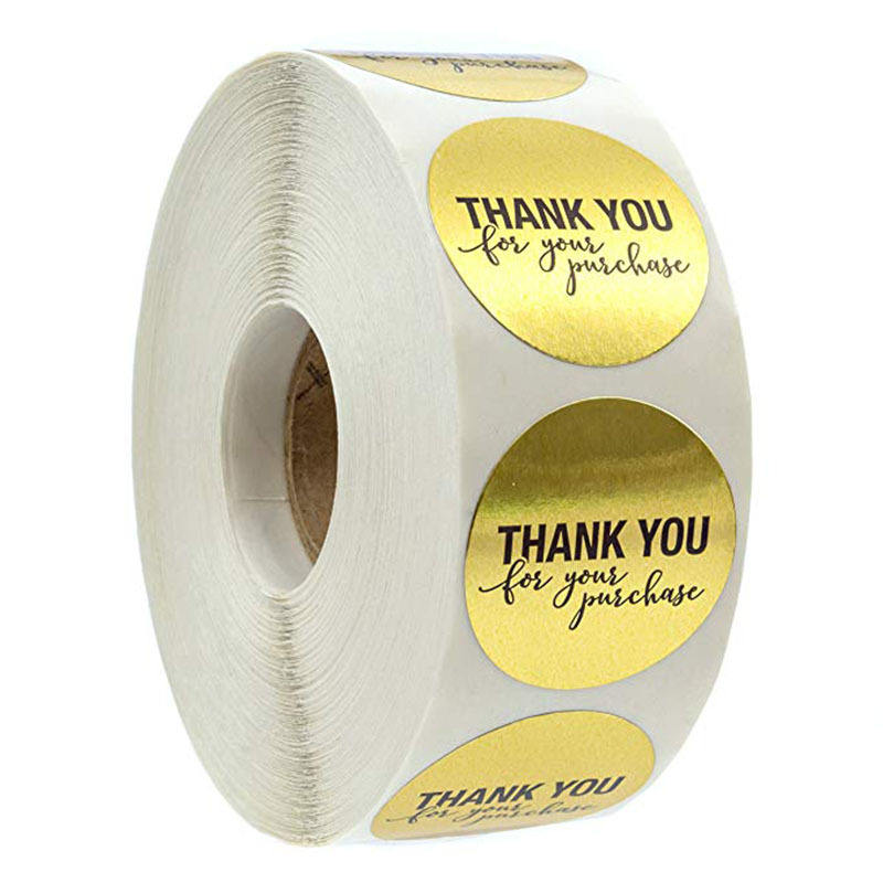 500 Labels per roll Gold Round Heart Shape Seal labels Thank you Stickers