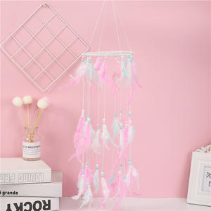 Wholesale Handmade Decorative Feather Wind Chimes Wall Hanging Dream Catcher
