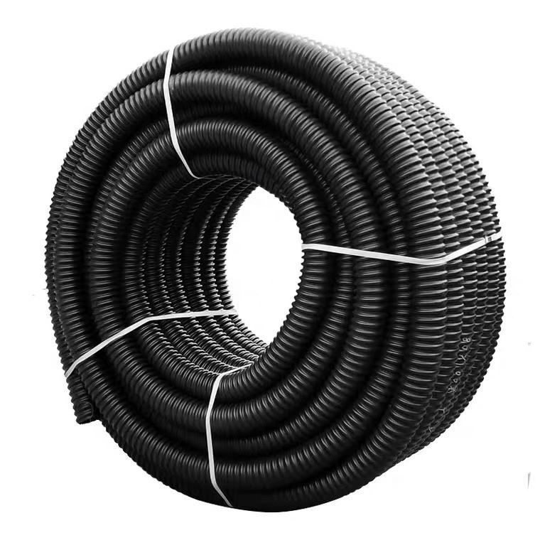 SN4 SN8 160mm 200mm Manhole Double Wall Twin Culvert PE Material Large Plastic Corrugated Culvert Pipe
