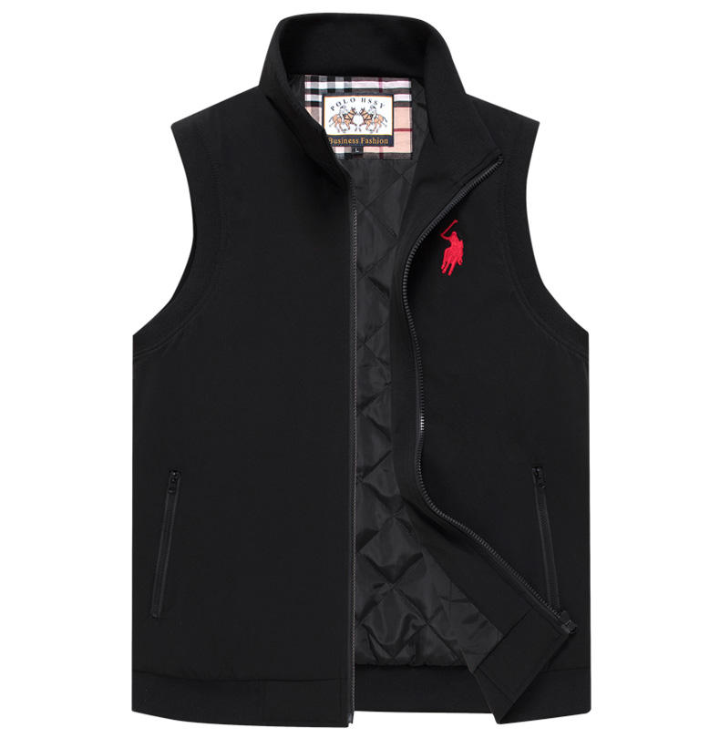 Men's Paul POLO Waistcoat Business Casual Men's Vest Cotton Autumn/winter Jacket Trend
