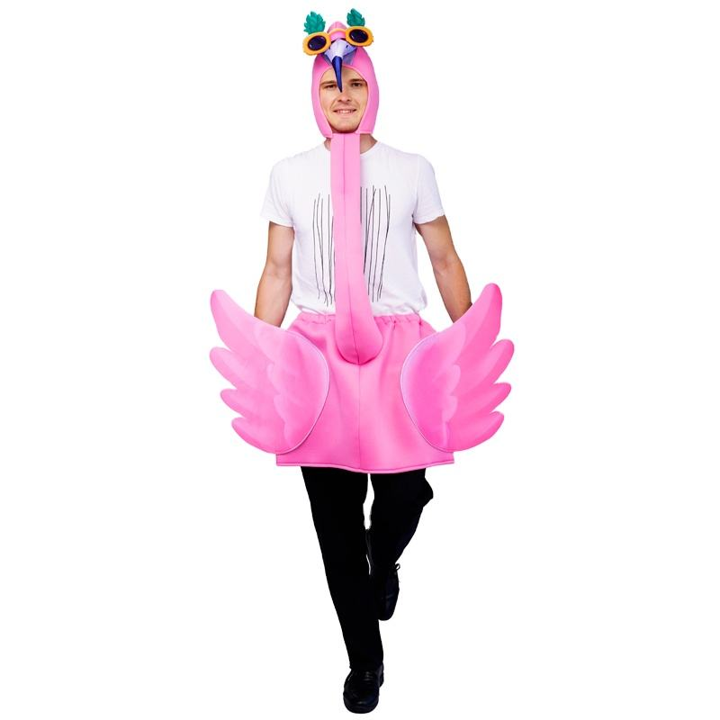 New Style Fashion Pink Swan Festival Party Cosplay Flamingo Fancy Dress Adult One size Jumpsuits
