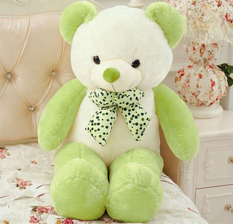 OEM manufacturer custom plush green teddy bear