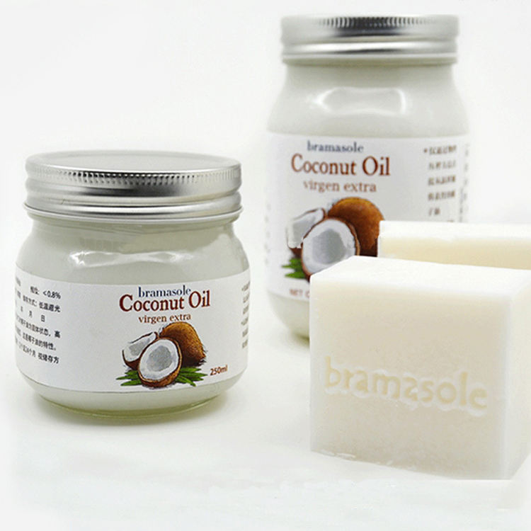 customize coconut oil and fruit jam use 250ml 8oz unique glass jar with screw cap