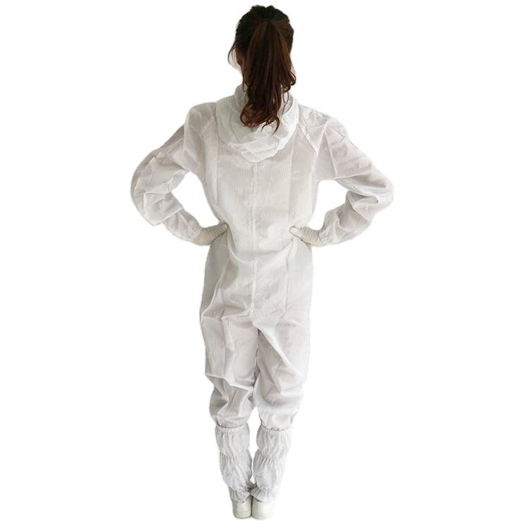 White High Quality Antistaticwomen Washable Reusable Clothing Workwear ESD Smock For Cleanroom