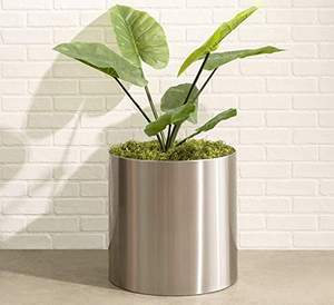 Silver Color Planter Flower Pot Stand Stainless Steel Small Flower Pots