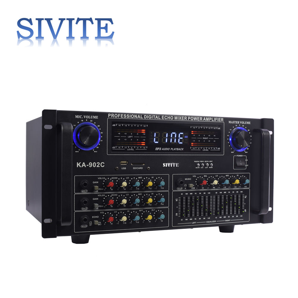 SIVITE Power Amp 2 Channel Output Professional Stereo Amplifier KA-902C