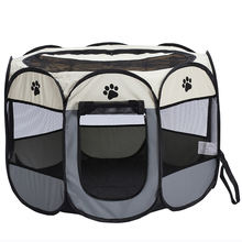 Portable Foldable Pet Playpen Carrying Case Indoor Outdoor Use Water resistant Removable shade Cover Dogs Cats