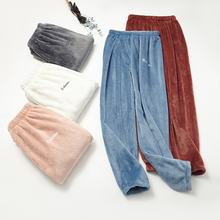 multi-color polyester polar fleece cashmere faux fur harem pants warm winter women loose pants designshns set  heating fiber