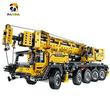 Brand King building block Mobile crane Mkll /electric engineering vehicle/crane technic machinery Assembly DIY toy (90004/20004)