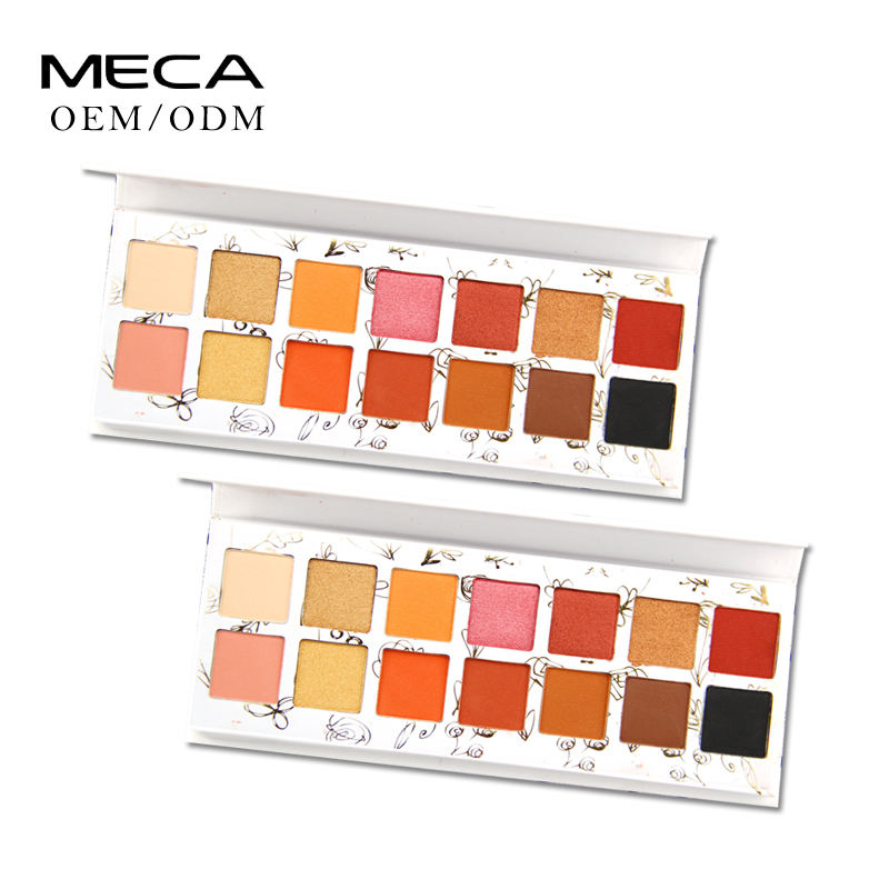 Private label eyeshadow palette 14 colori Concise custom <span class=keywords><strong>design</strong></span> logo ombretto di trucco