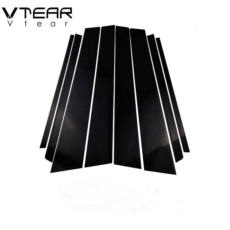 Vtear For Toyota RAV4 RAV 4 accessories car window B C pillar sticker trim black mirror reflection panel Exterior 2005-2013