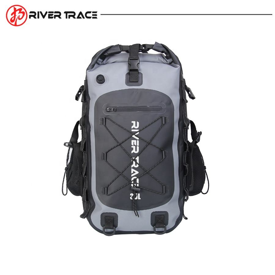 Large Capacity 500d Pvc Tarpaulin IPX6 Laptop Bag Waterproof Dry Backpack For Hiking Kayak Camping Outdoor Activities