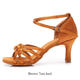 New soft soled Latin dance shoes female adult four season medium high heel girl dance shoes