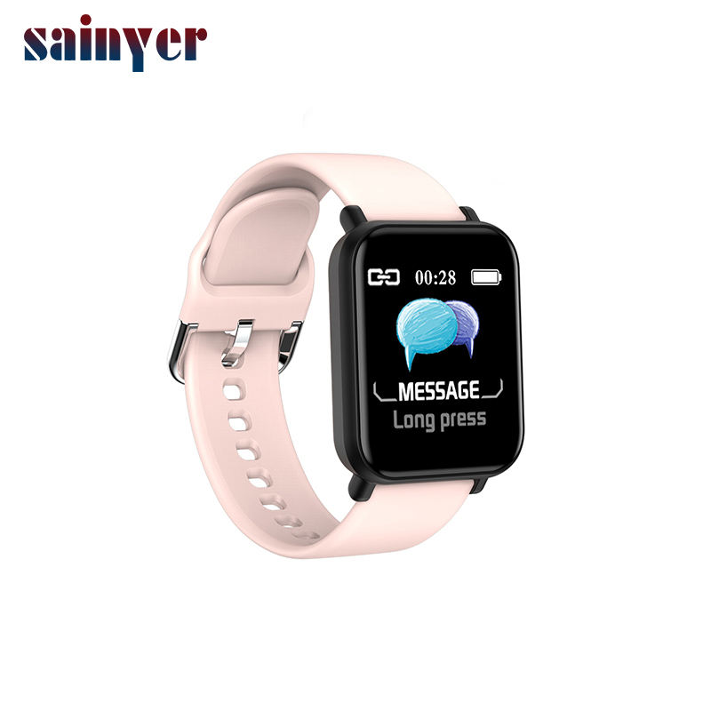 R16 Smart Watch Men Women Waterproof Heart Rate Blood Pressure Sport Tracker Smartwatch For Android IOS phone