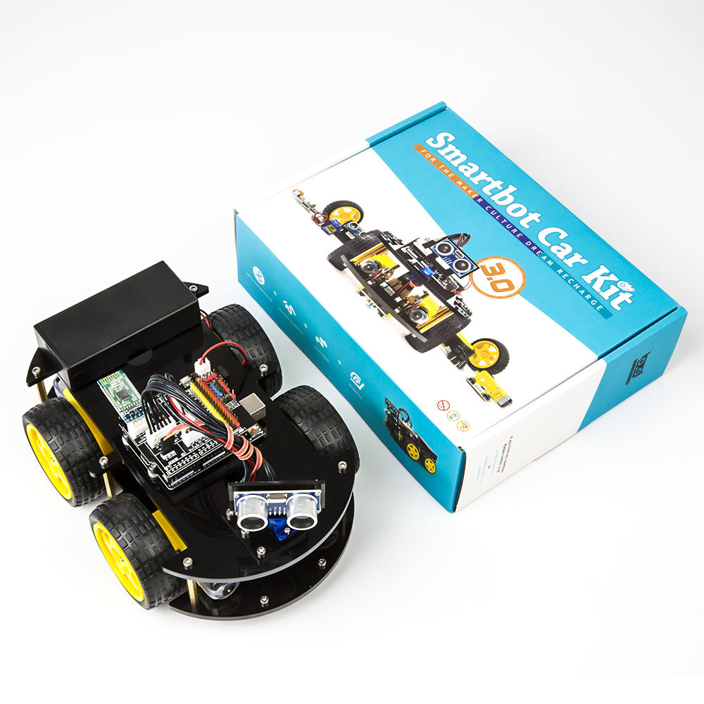 Programma Robot 4WD Cars APP RC Afstandsbediening Bluetooth Robotics Learning Kit Voor Arduino Educatief Stem Kinderen Kid Speelgoed