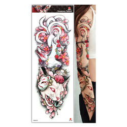 2020 New WAM seri301-320 full arm  big flower arm waterproof environmental protection tattoo sticker for women can be customized