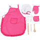Amazon 11pc chef cooking hat kids kitchen set for indoor toys kitchen toys Children pretend play set game baking tools for girl
