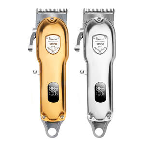 Buy Online Usa Hot Trends Classic Series Cordless Professional Men Wireless Barber Trimmer Gold All Metal Hair Clipper