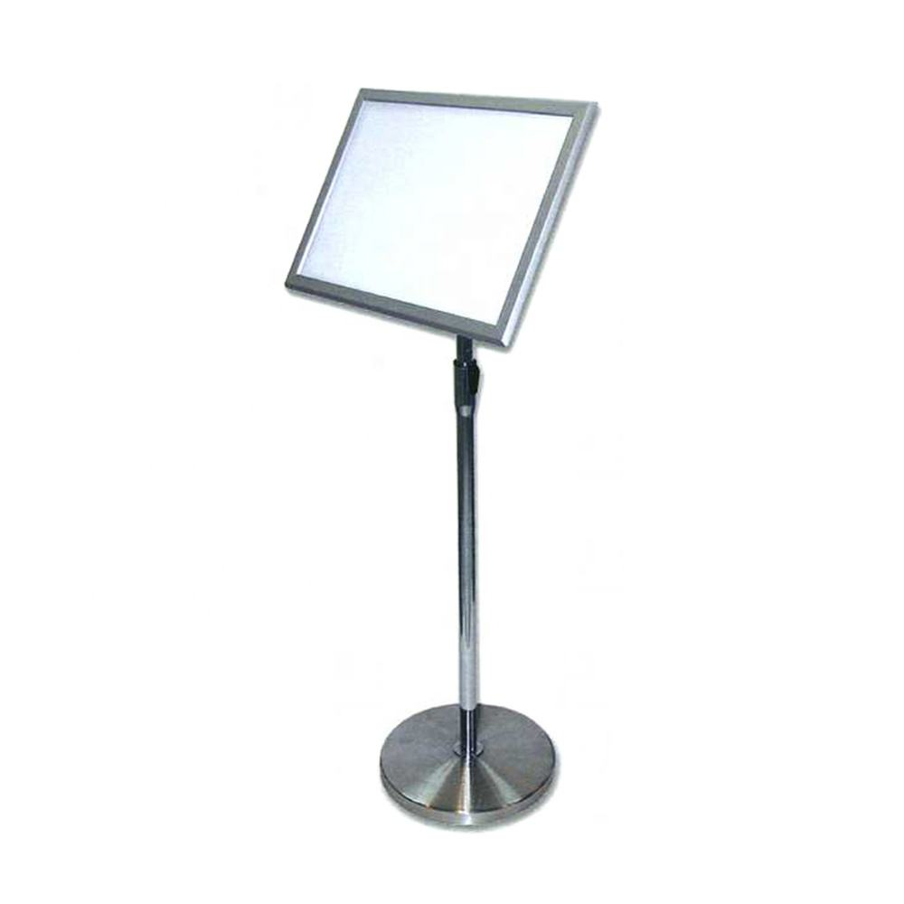 OEM High Quality Polishing Stainless Steel Drinking Menu Stand For Restaurant Promotion