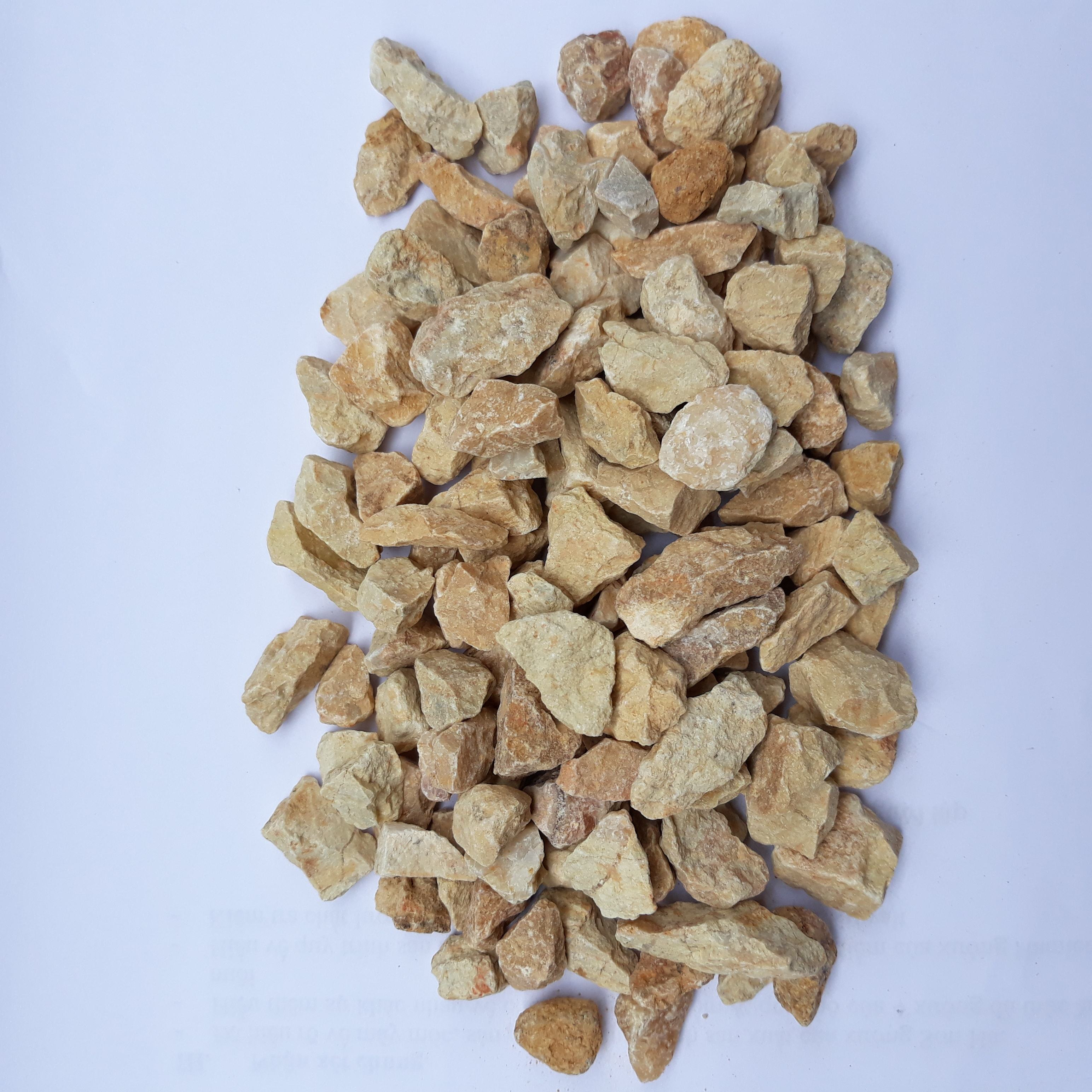 Yellow Crushed stones Marble rock Landscaping gravels for Pavement