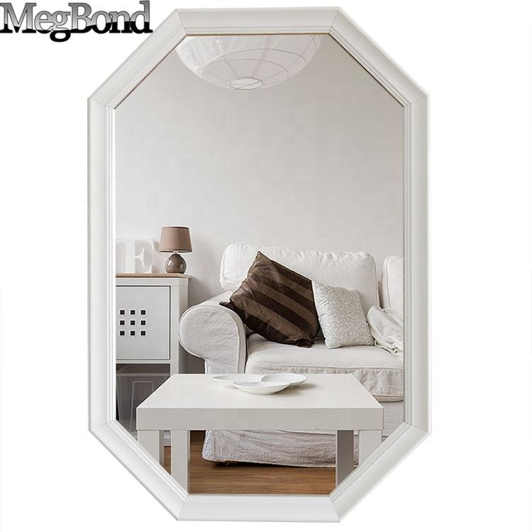 Modern white wall mirror for home