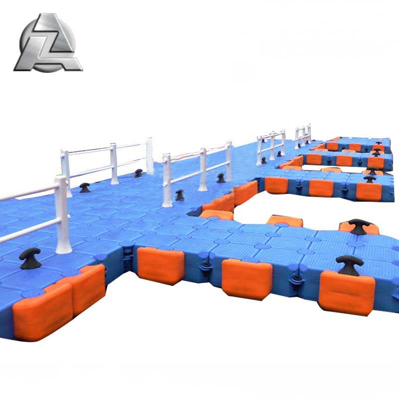 Slip-resistant and cool surface double deck cheap float pontoons for sale
