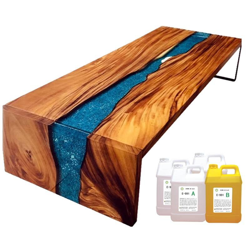 adhesive clear hard wood table crystal epoxy resin,furniture floor hardener liquid epoxy resin