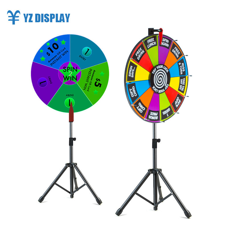 Tripod Prize Wheel Of Fortune Win Game Display Stand Wheel