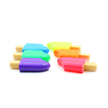 Latest Design Non-Toxic Water-Based Ice Cream Shape Highlighters 6 Colors Fluorescent Pens