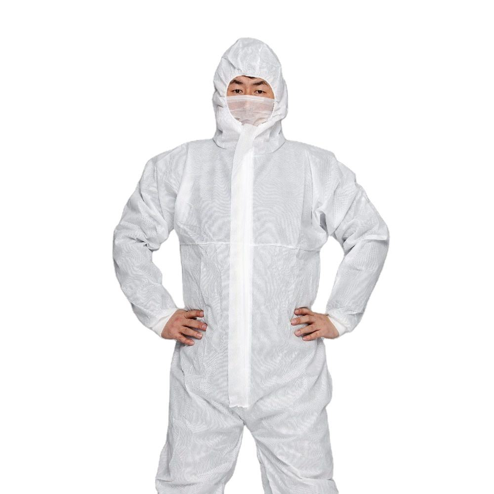 Cheap single use non woven clothing hooded disposable coverall