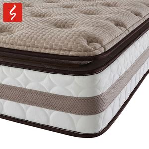 Custom Factory Supply King Queen Full Size Foam Pocket Spring Hotel Bed Mattress in a Box