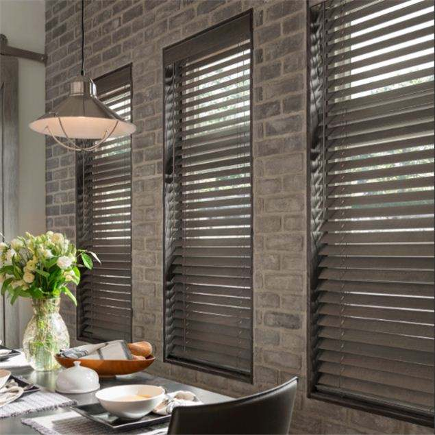 guangdongdongguan mini ready made timber blinds automatic windows horizontal louvre blinds for the living room