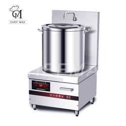 Commercial Custom 8KW Vertical Simmer Cooker Induction Soup Cooking Stove