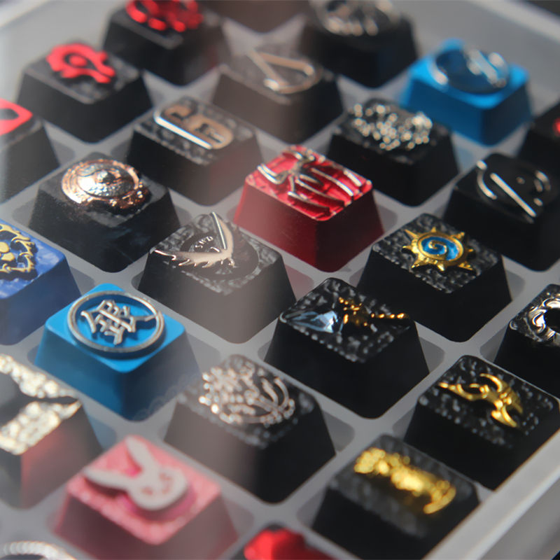 1pc Artisan Zinc-plated Aluminum Alloy Keycaps for Mechanical Keyboard OW DVA One Piece CS LOL R4 Height Stereoscopic Relief