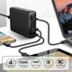 Charger Multi Station Charger Station VINA 4 Ports 100W Total Power QC3.0 PD Smart Fast Charger Multi Charger Station For IPhone For IPad For MacBook